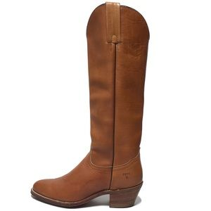 Frye Western Pull On Cognac Color Boots Size 8